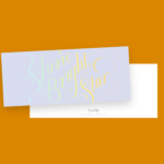 """""""Shine Bright, You're A Star"""" Card on a Tangerine Background"""